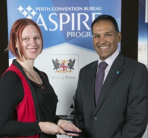 Me with Giving West CEO, Kevin MacDonald. A very special moment. Shame about the bad hair day ;-)